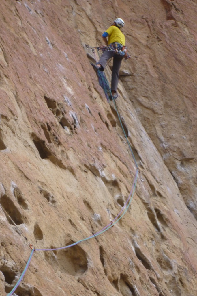 Phol on the first belay of Zion