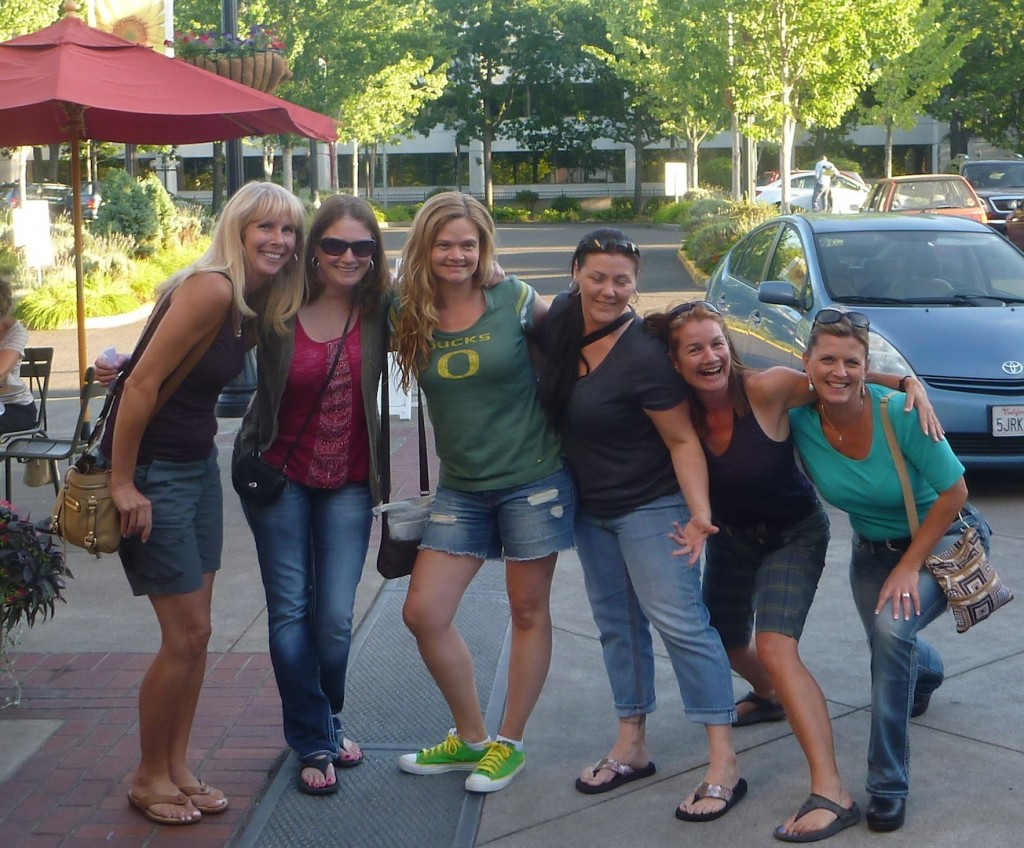 The Girls before the Beer & Bike tour